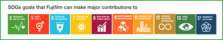 SDGs goals that Fujifilm can make major contributions to